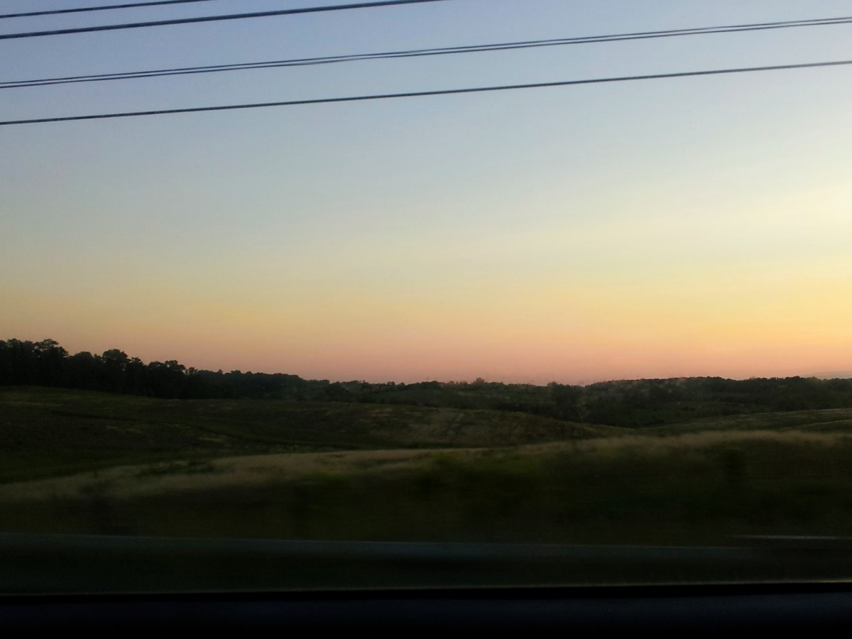 Small Towns in Virginia - driving through Purcellville and seeing the sunrise