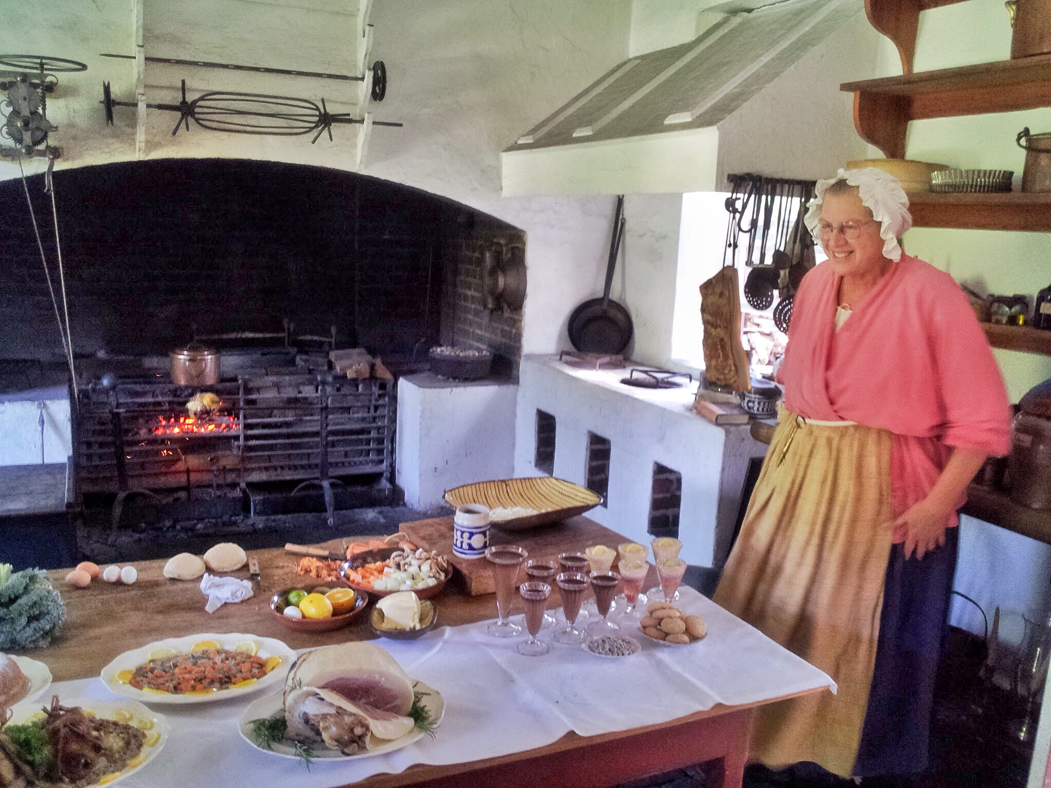 18th Century Food Demonstration in Colonial Williamsburg