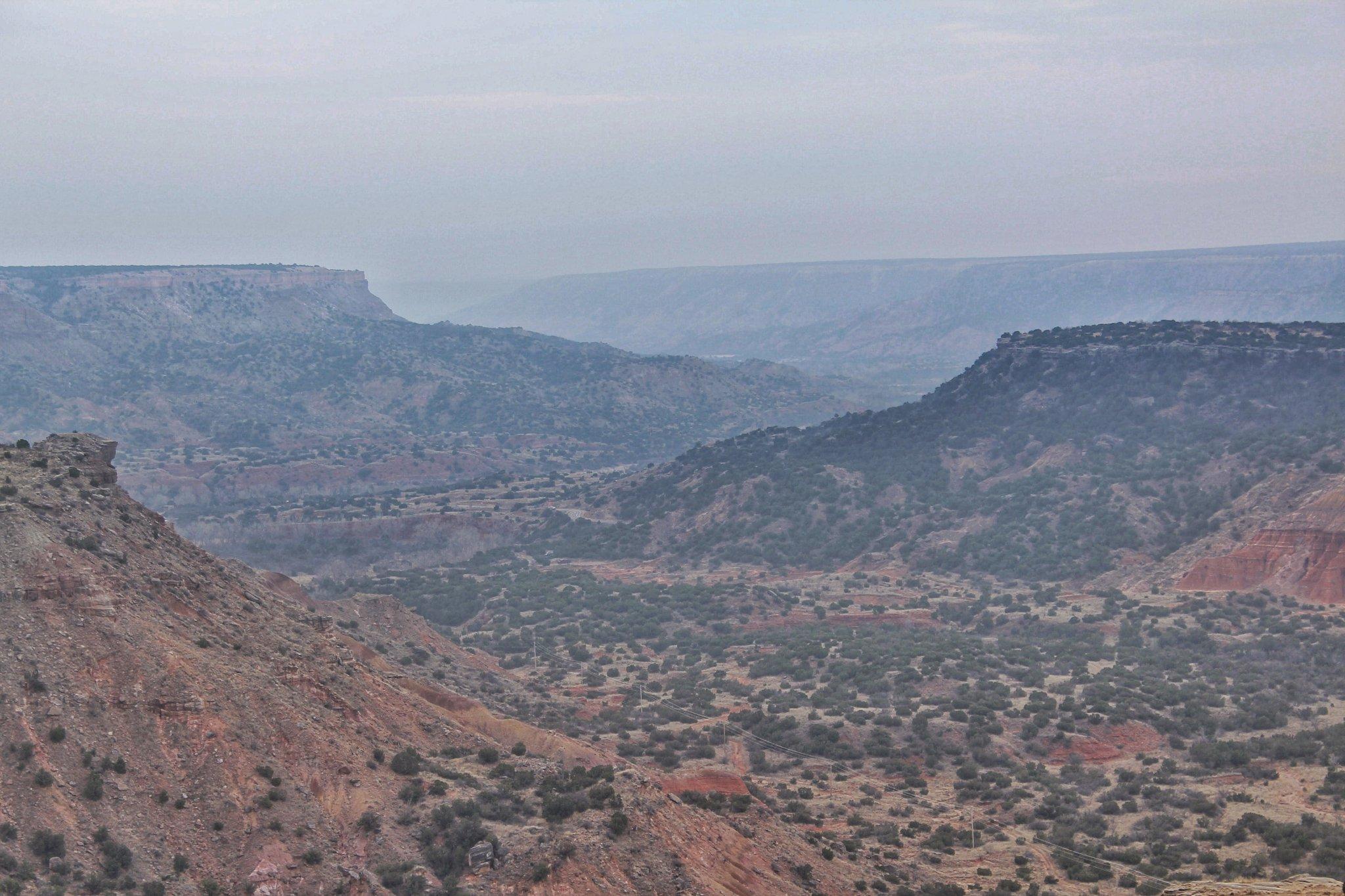 Palo Duro Canyon - beautiful layered backdrop