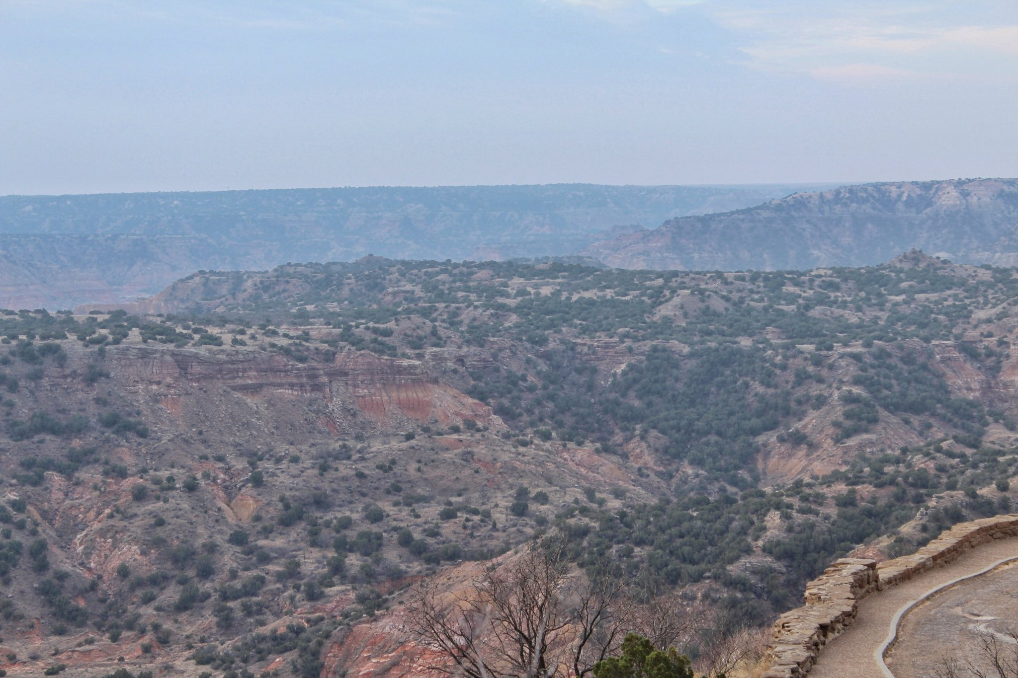 Exploring Palo Duro Canyon: View from Scenic Byway