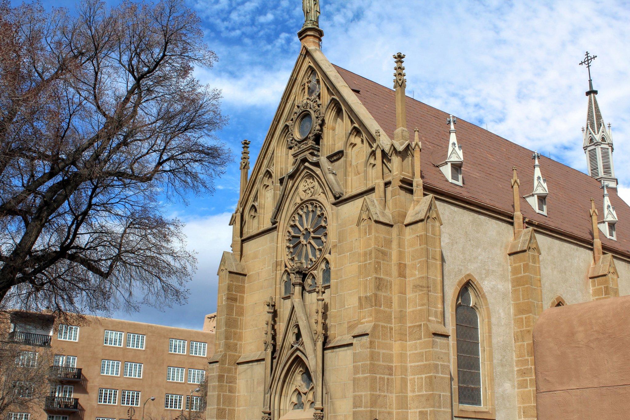 Loretto Chapel - Front Facade