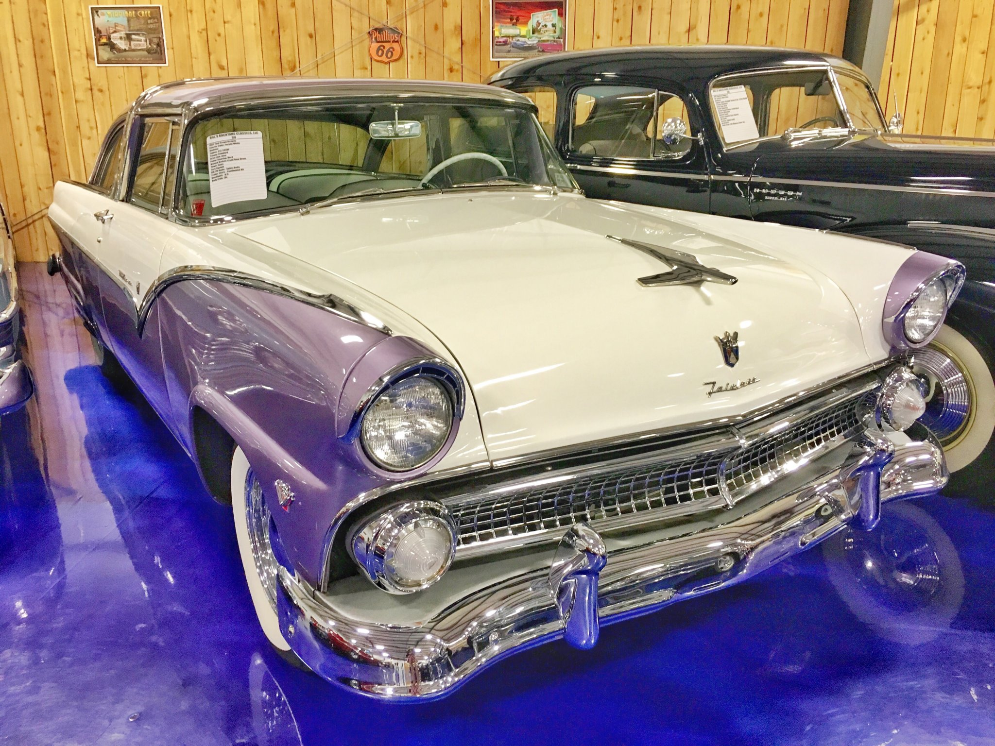 Offbeat Things to Do in Amarillo : The only lavender colored car of this model with the original paint left in the world!