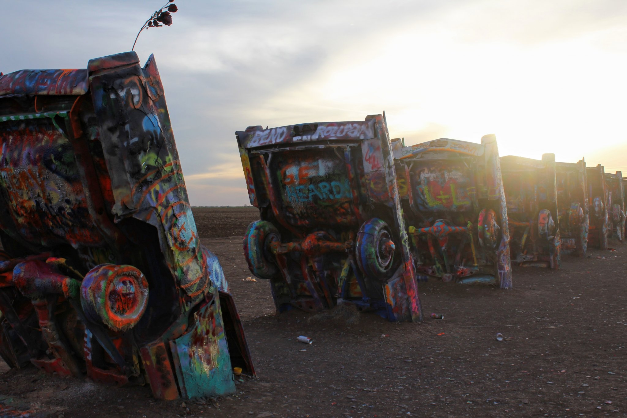 Offbeat Things to Do in Amarillo : Cadillac Ranch