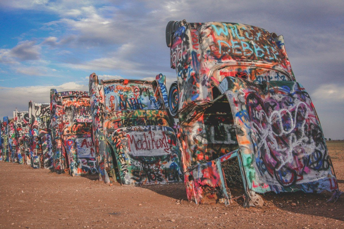 Day Trips From Albuquerque: Cadillac Ranch In Amarillo, Texas