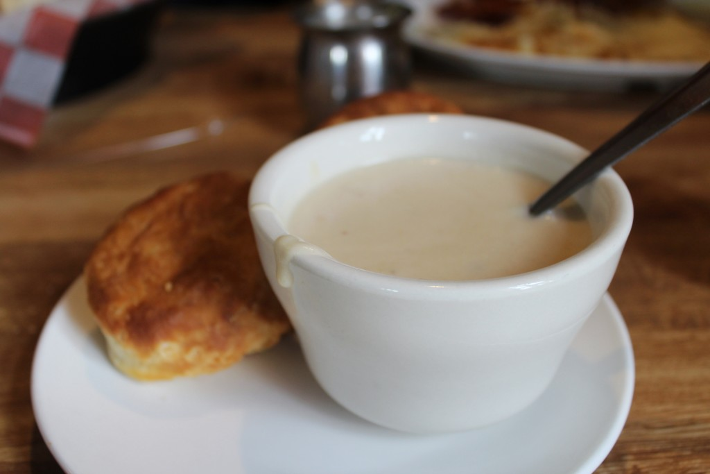 Where to Eat in Amarillo? Biscuits and Gravy, because why not?