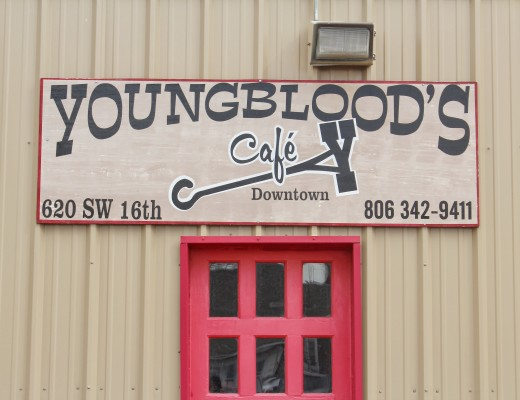 Where to Eat in Amarillo? Youngblood's Cafe Entrance.