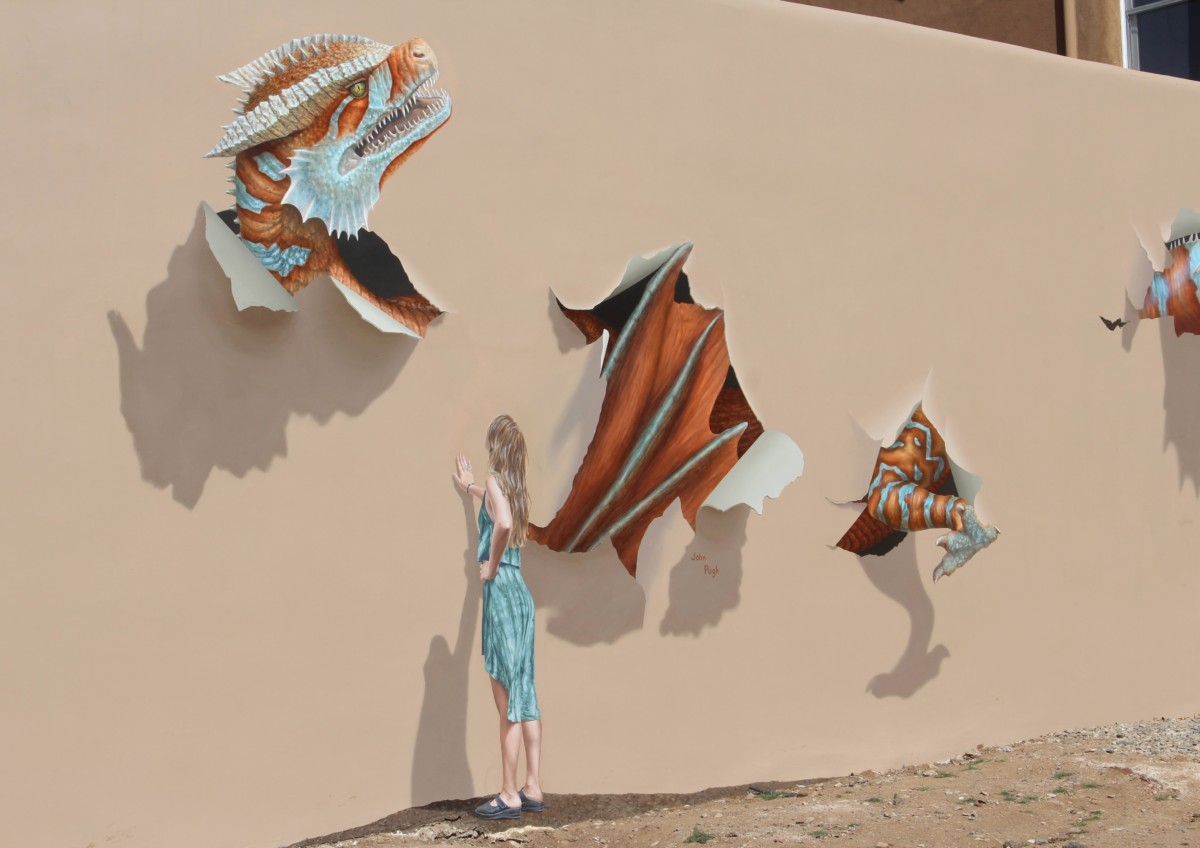 Guide to Santa Fe's Railyard: Dragon Wall