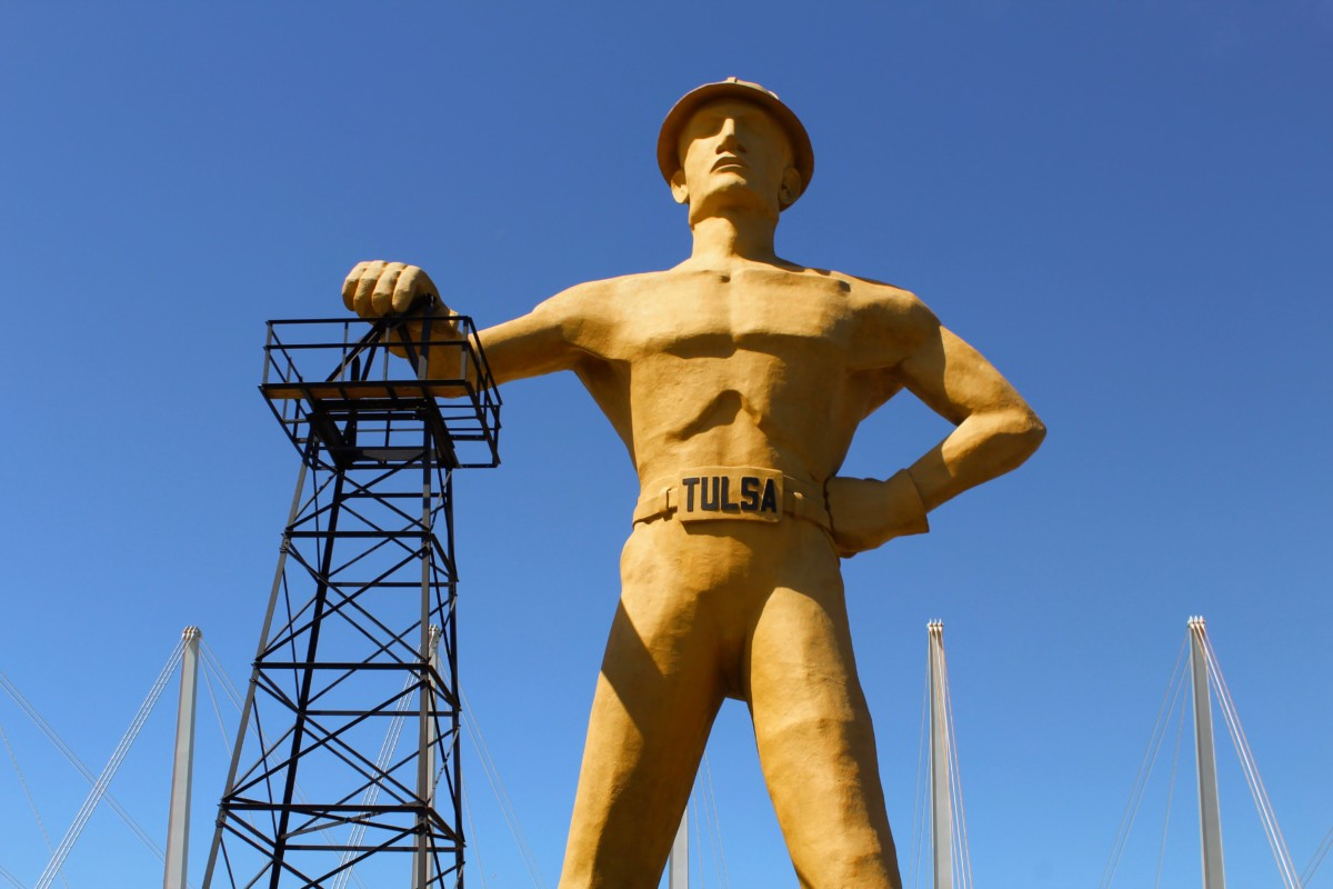 Top 5 Things to Do in Tulsa Oklahoma See the Golden Driller Statue - it's a Bucket List Tulsa Item!