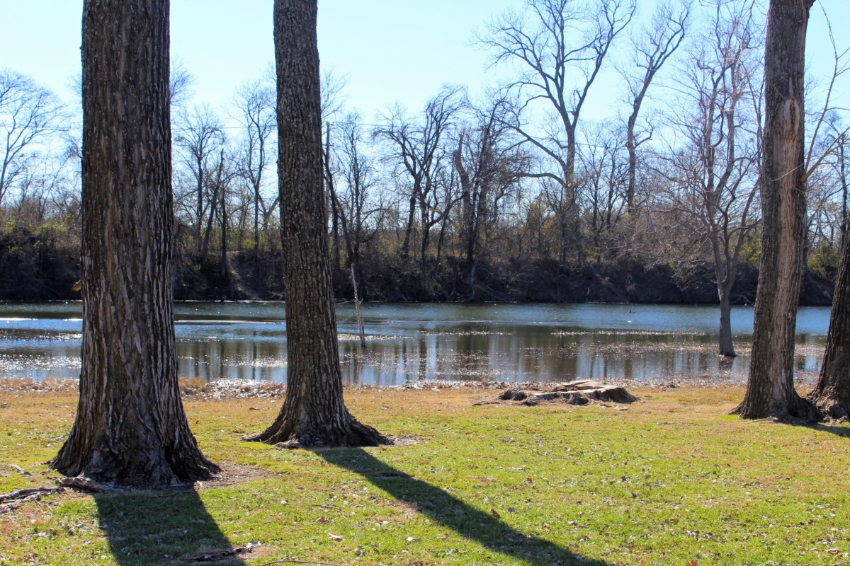 Guide to Allen, Texas: Bethany Lakes Park filled with wooded trees and green grass is perfect for walking around the suburb, one of the best things to do in Allen, Texas