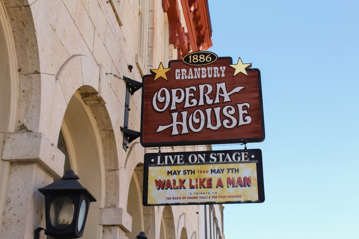 Guide to Granbury: Granbury Opera House Sign