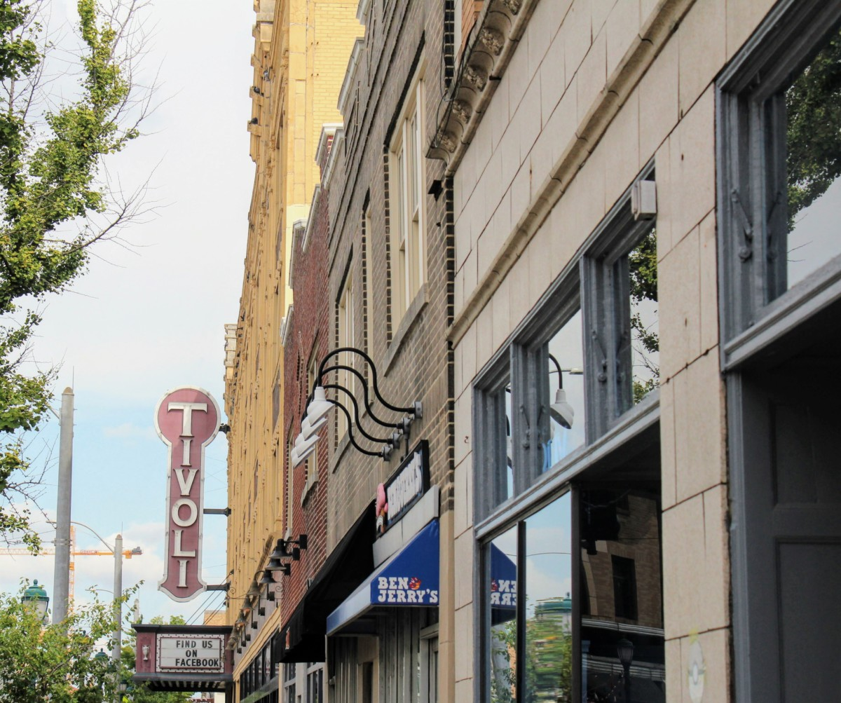 The Tivoli Theater is a must-see in the Loop. One of the top things to do in Delmar Loop it is known for its independent films and three-screen theater