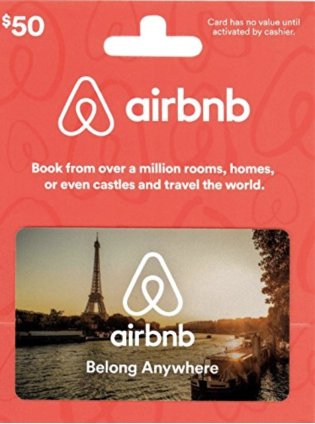 Unique Gifts for travelers - AirBnB card