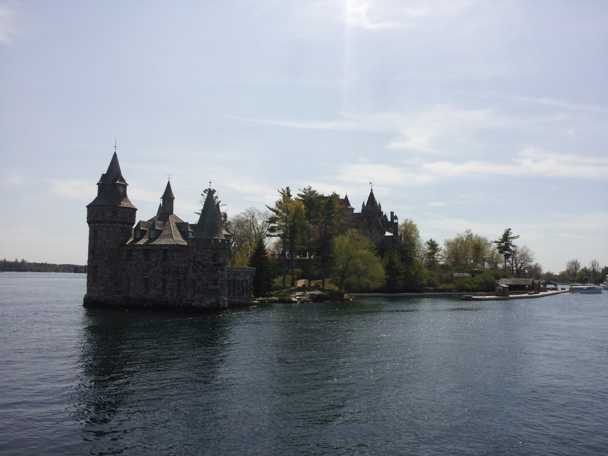 Visiting Boldt Castle from the distance
