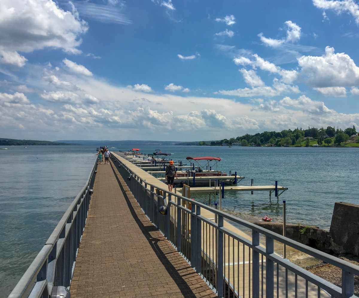 Just Drinking In The Views Is One Of Best Free Things To Do Skaneateles With Cloud Wisped Skies And Clear Blue Waters Crux