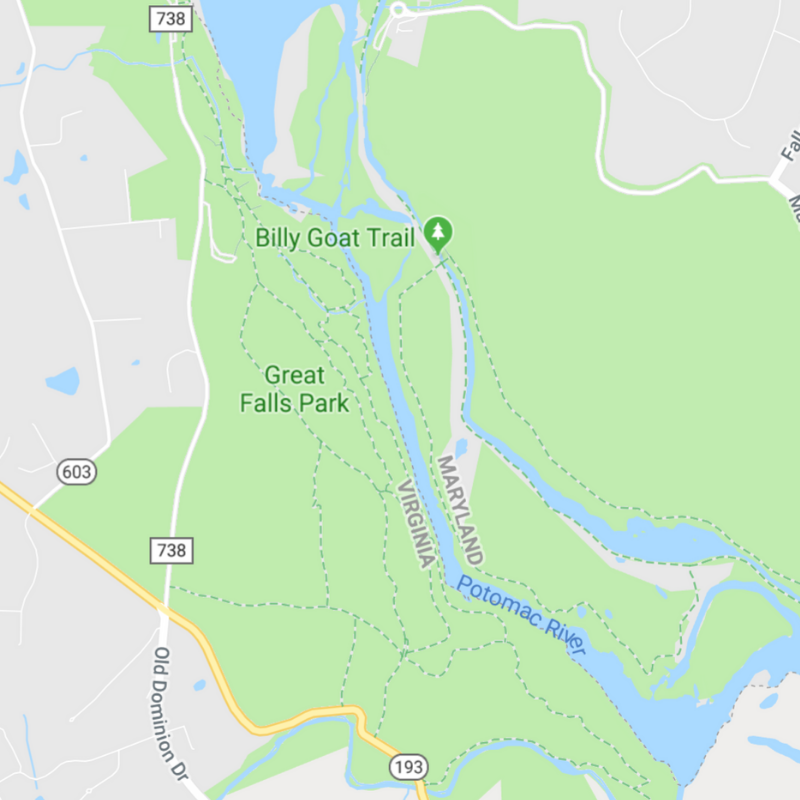 Great Falls Park Hiking Map