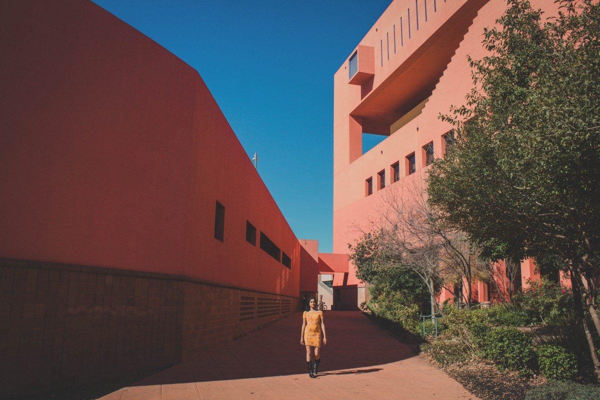 Beautiful geometric library in San Antonio