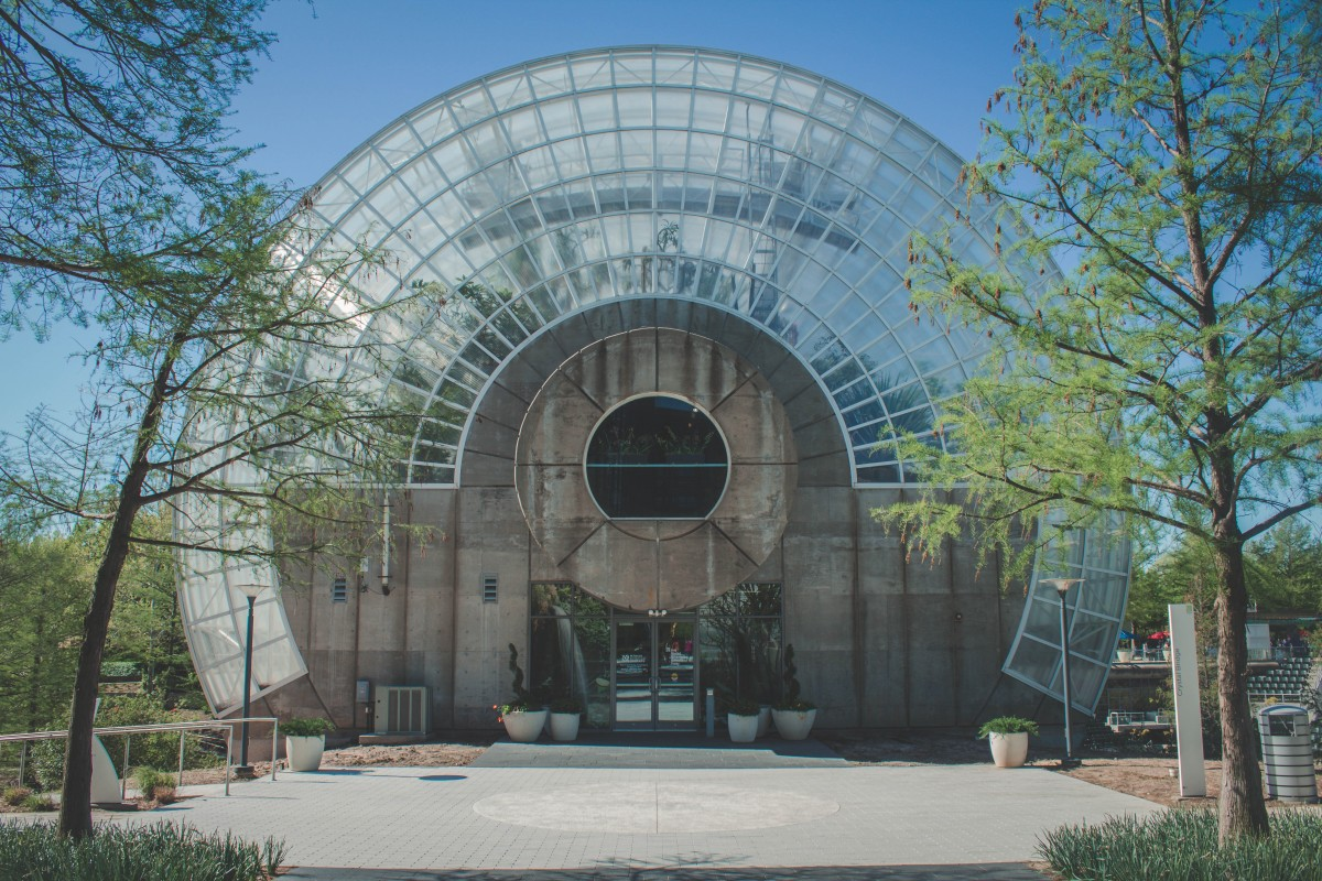 OKC Date Ideas: Myriad Botanical Gardens Entrance