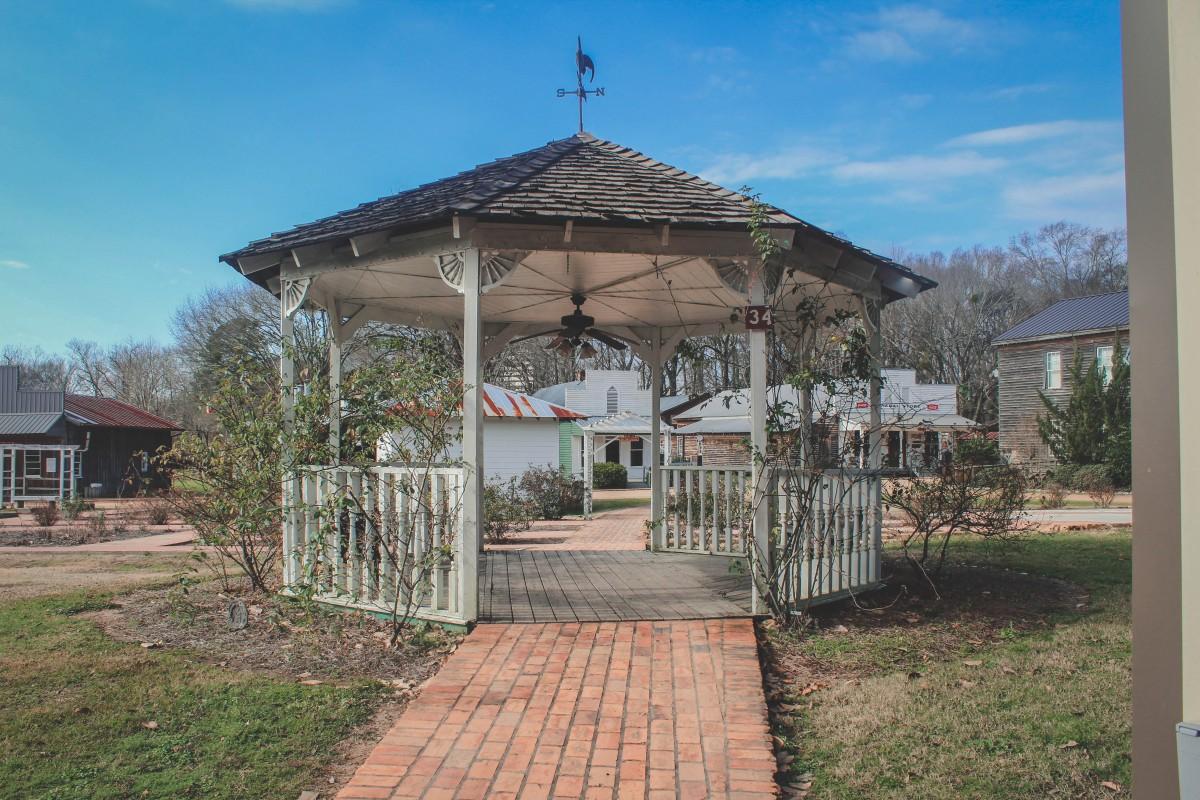 Gazebo in the Mississippi replica village