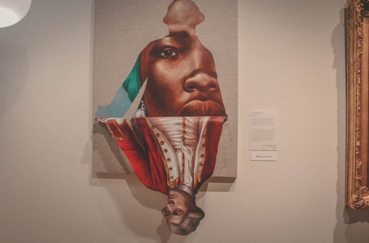 3 D art of a woman that raises questions about women and men in the Museum of Art in Jackson