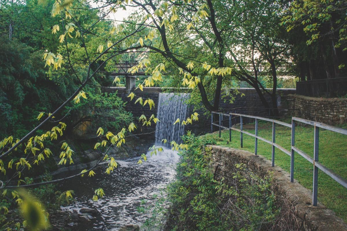 Waterfall in Lakeside Park Dallas