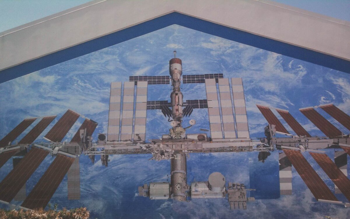 A mural at Kennedy Space Center.