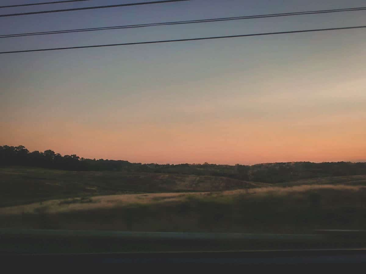 Purcellville virginia at sunset