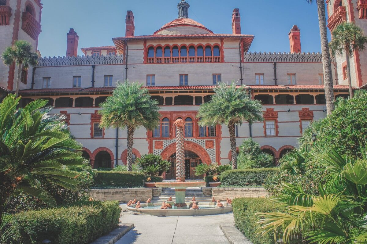 Exterior of Flagler College, one of the top free things to do in St. Augustine.