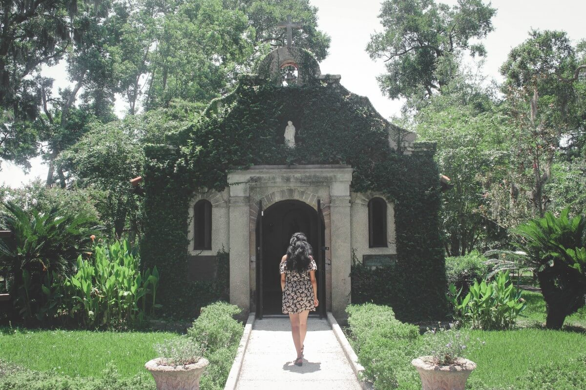 Our Lady de La Leche Chapel in St. Augustine, one of the free sights in Mission Nombre Dios