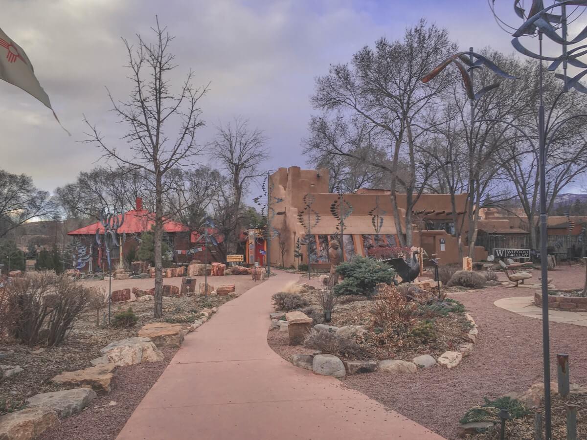 Small hidden courtyard area in Canyon Road in Santa Fe
