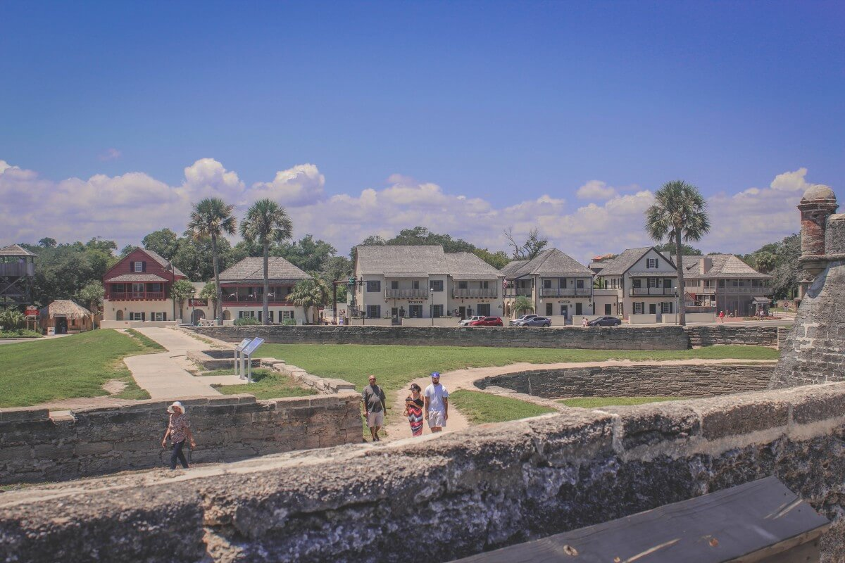One day in St. Augustine view from Castillo De San Marcos