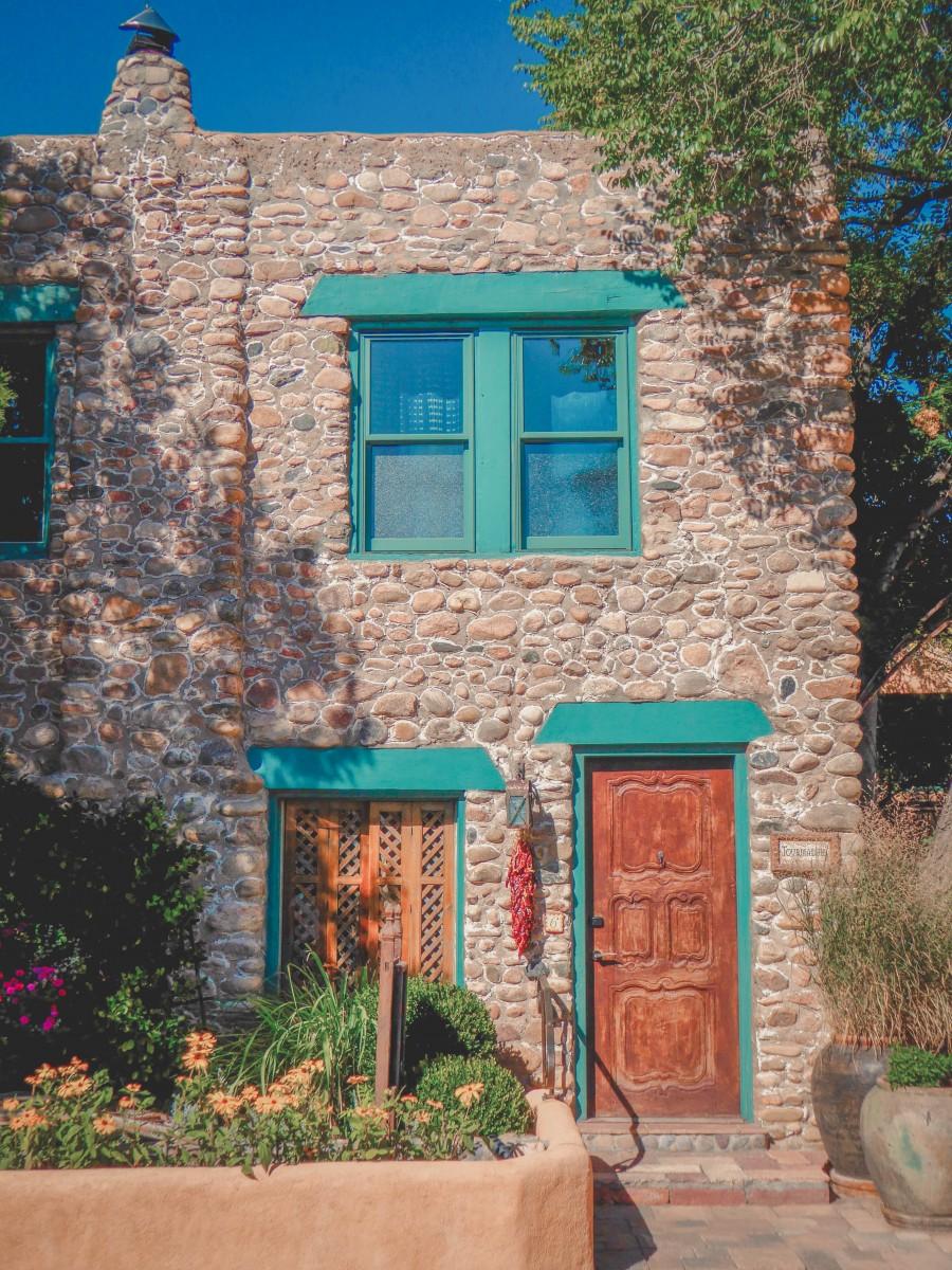 A house during a Santa Fe summer