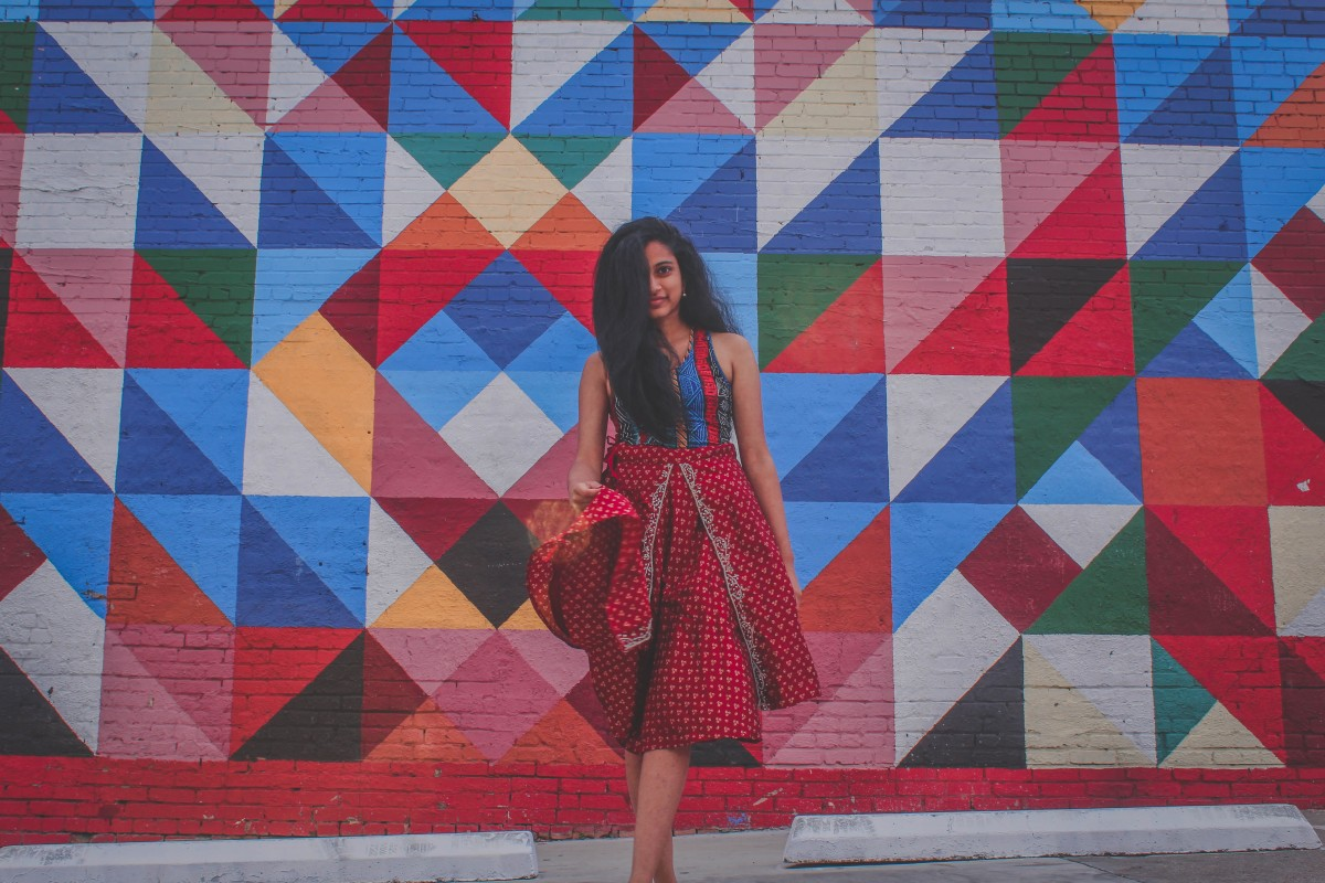funky color walls in Deep Ellum
