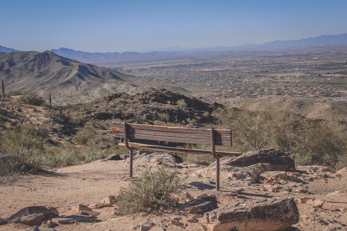 bench at Phoenix Arizona
