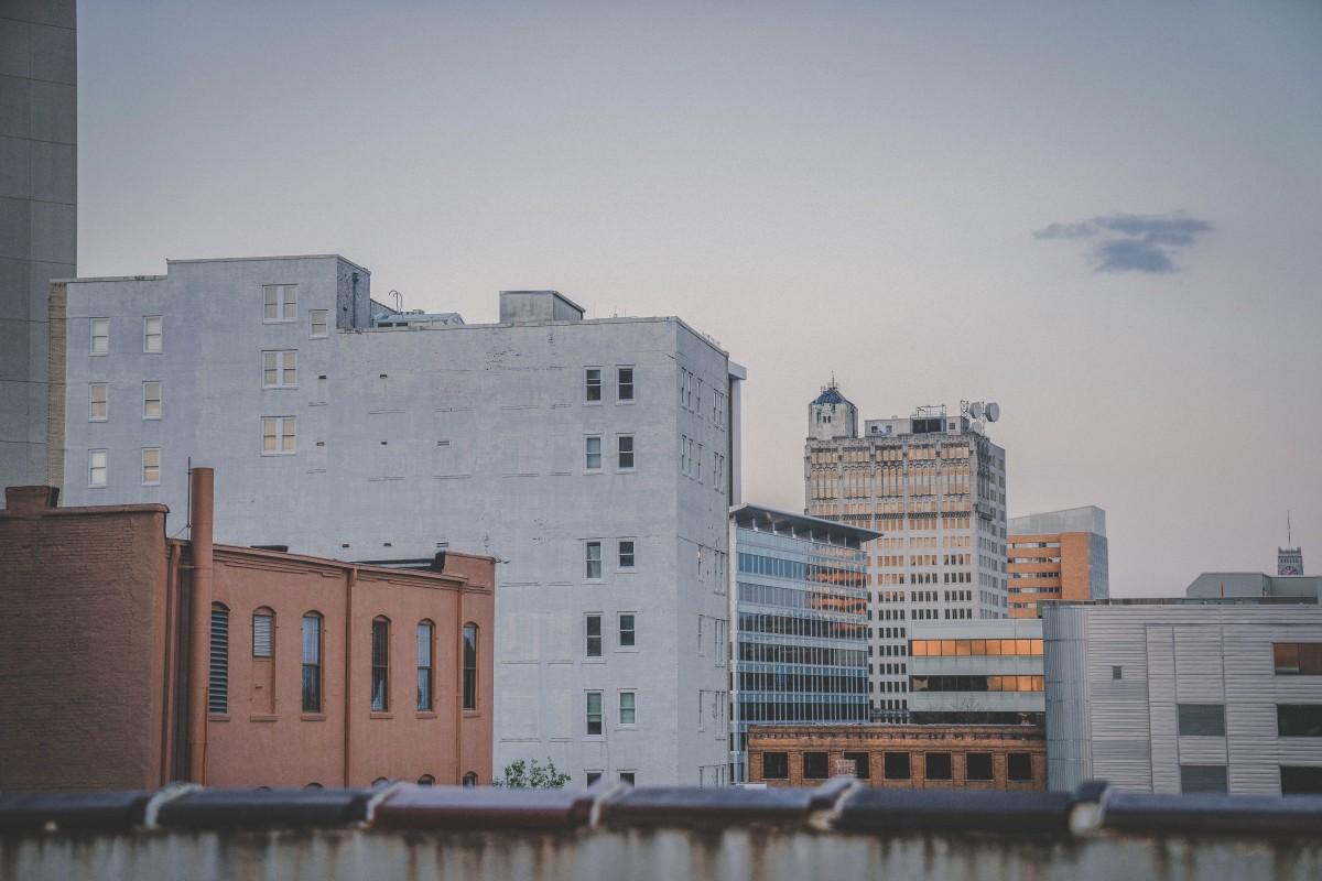 Jackson, Mississippi city scene.