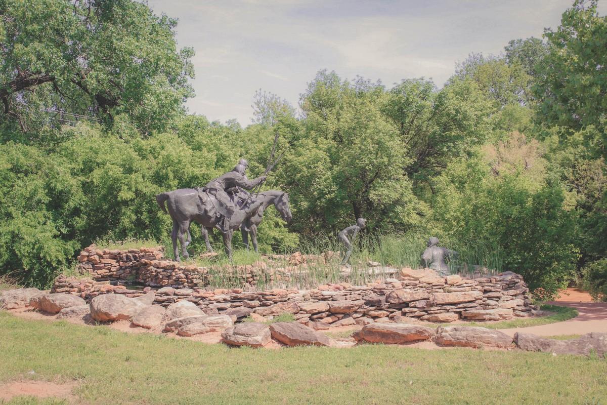 Wee Chi Tah Mountain Bike Trail Memorial Statues