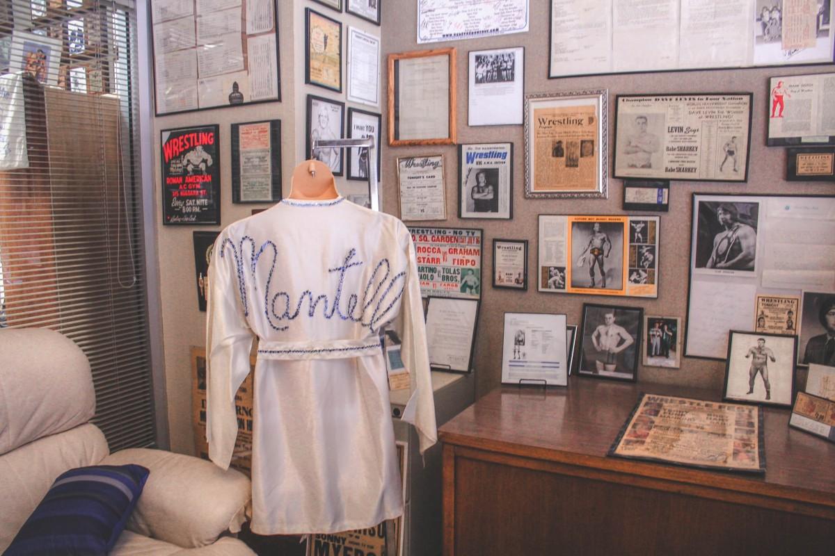 Inside a celebrity wrestler's room at the Wrestling Hall Of Fame