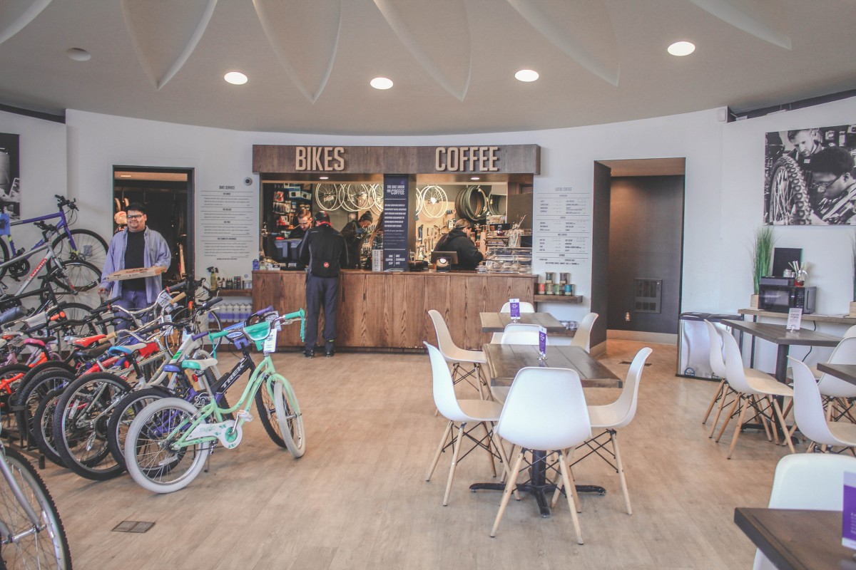 One of the best coffee shops in Omaha is part bike shop and part cafe