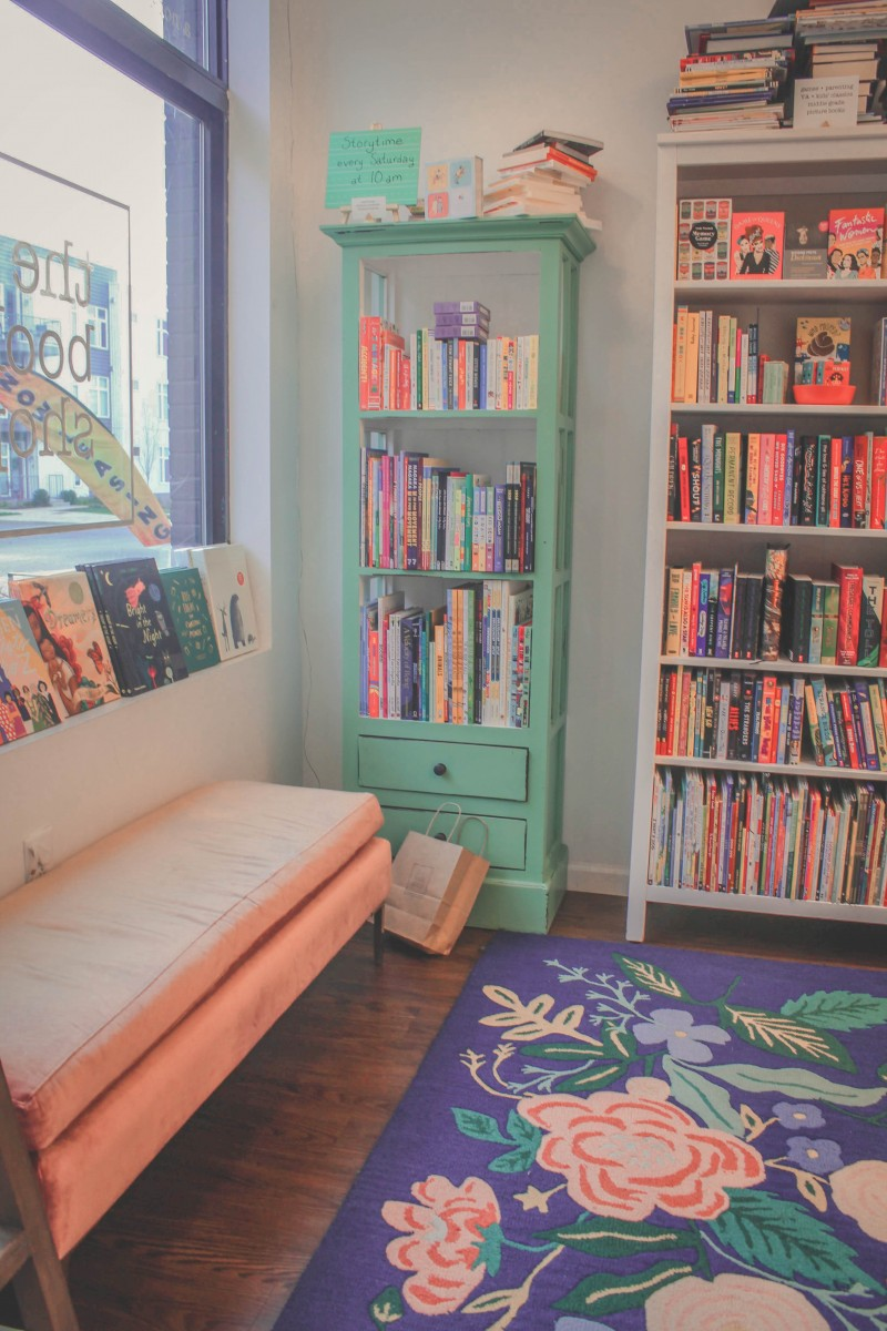walls of books at Her Bookshop, a cozy bookstore I visited during my one day in Nashville