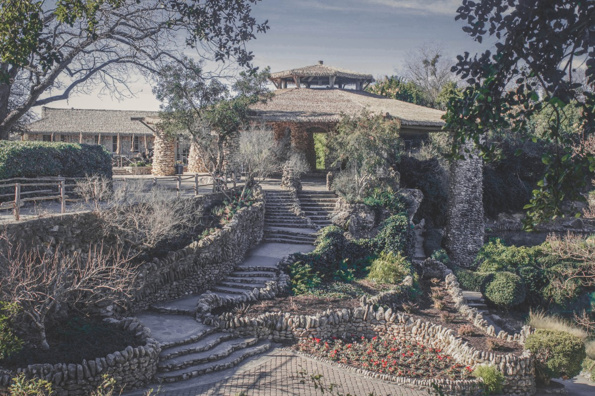 Japanese Tea Garden in San Antonio panoramic view