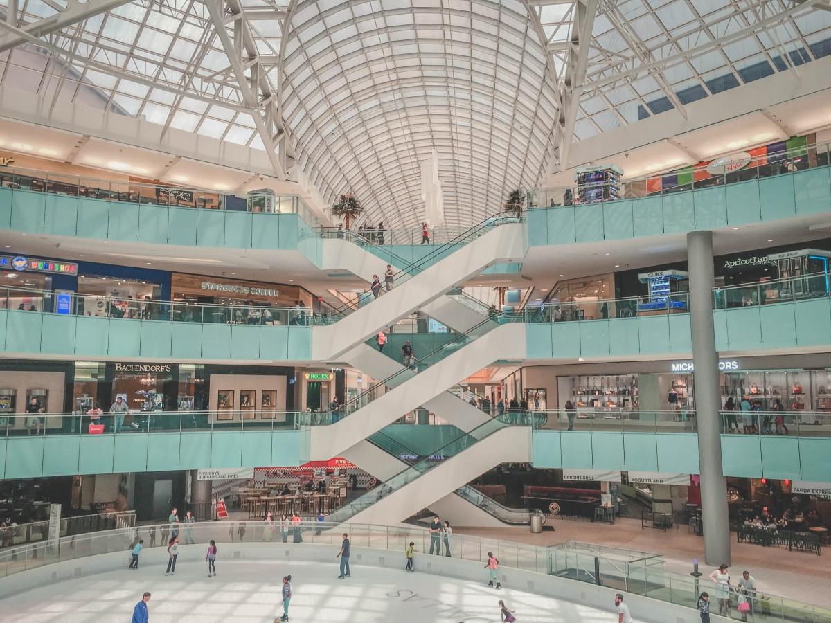 Ice Skating Rink inside Galleria Mall