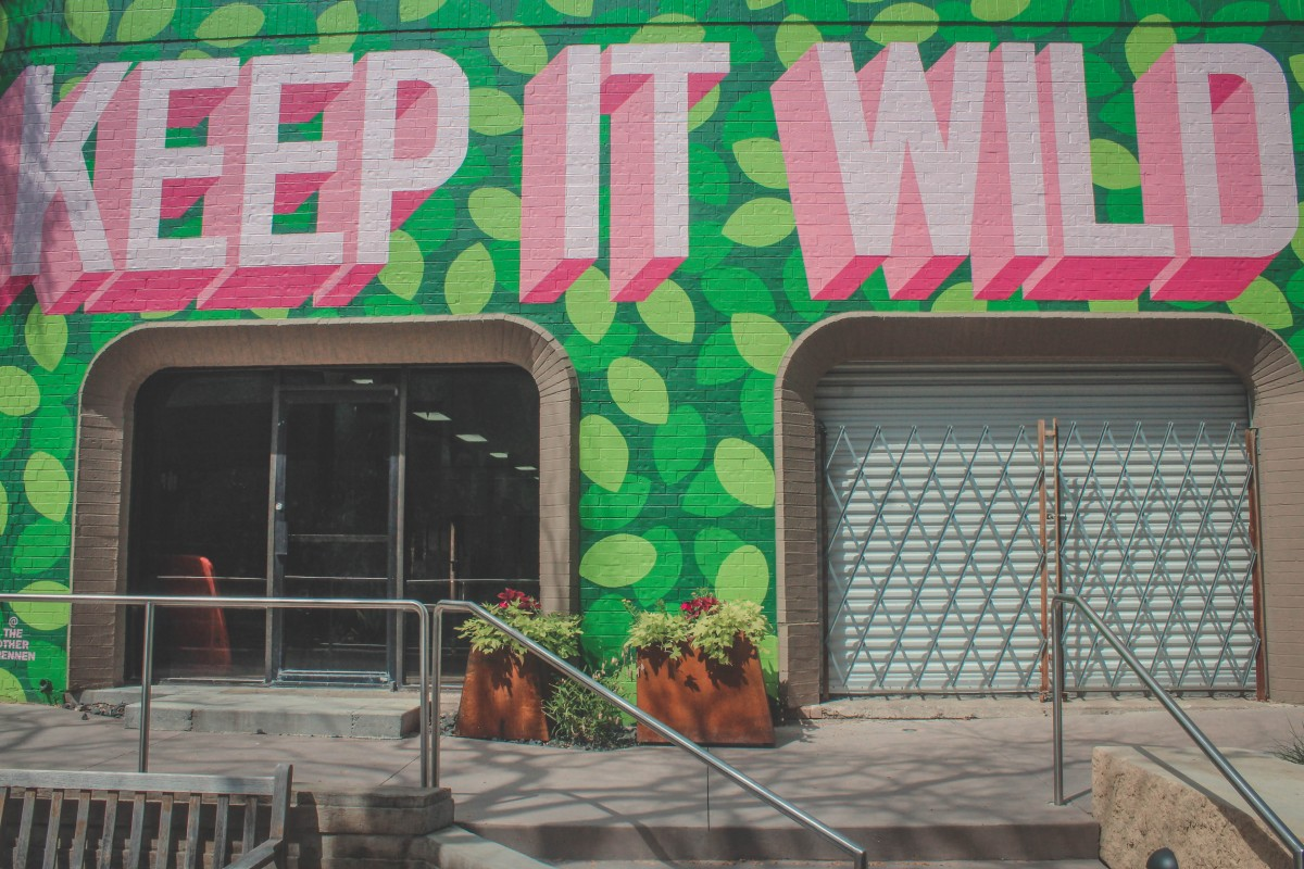 Keep It Wild watermelon mural