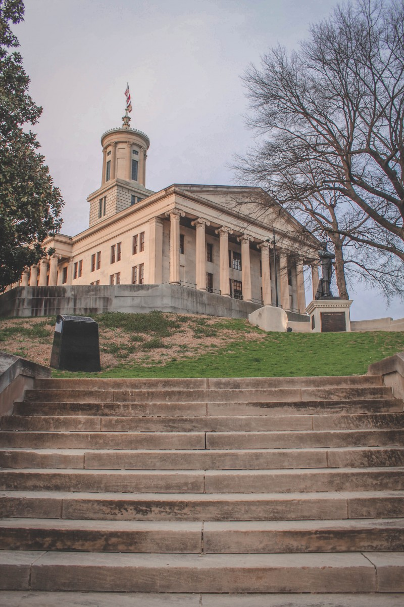 Steps leading up to the Tennessee State Capitol Building