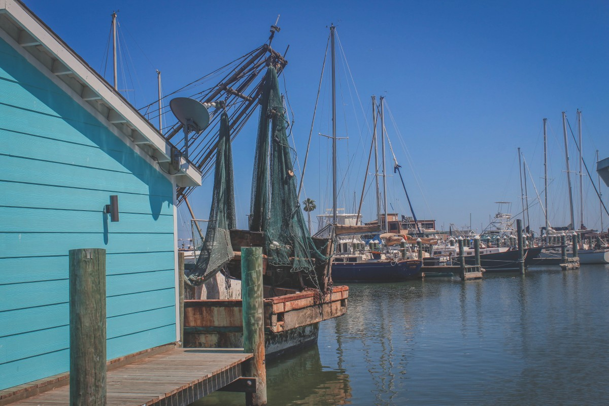 Ships Docked in Rockport, Texas