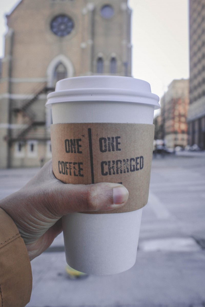 Coffee from a shop that uses TAGG