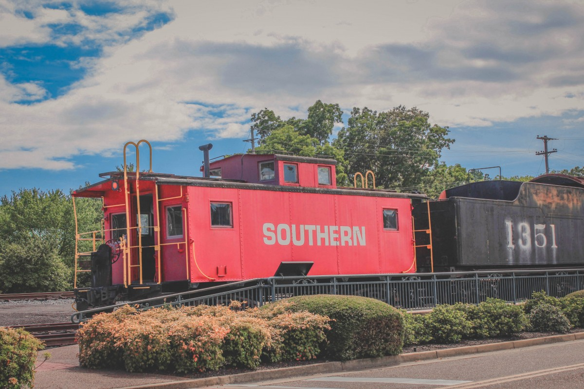 red caboose in Collierville