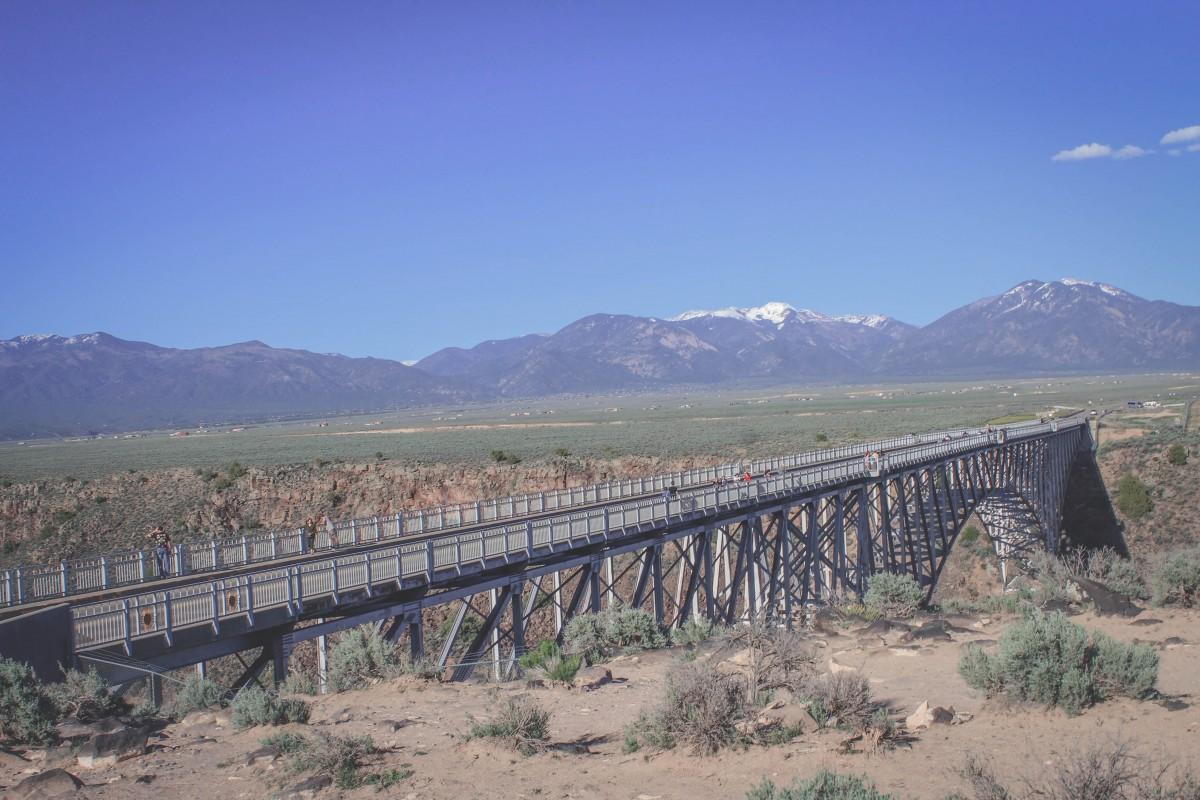 Full stretch of the Rio Grande Gorge Bridge