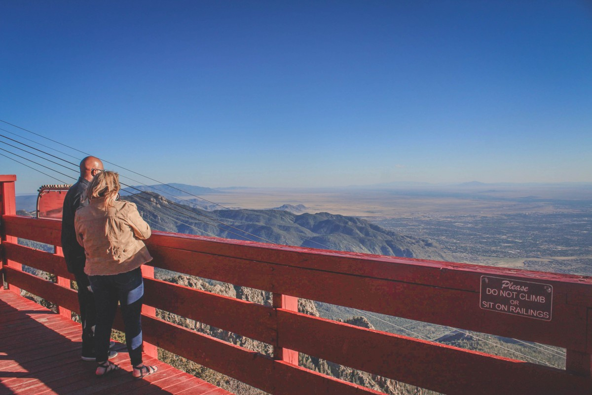 Sandia Peak Tramway view from the top