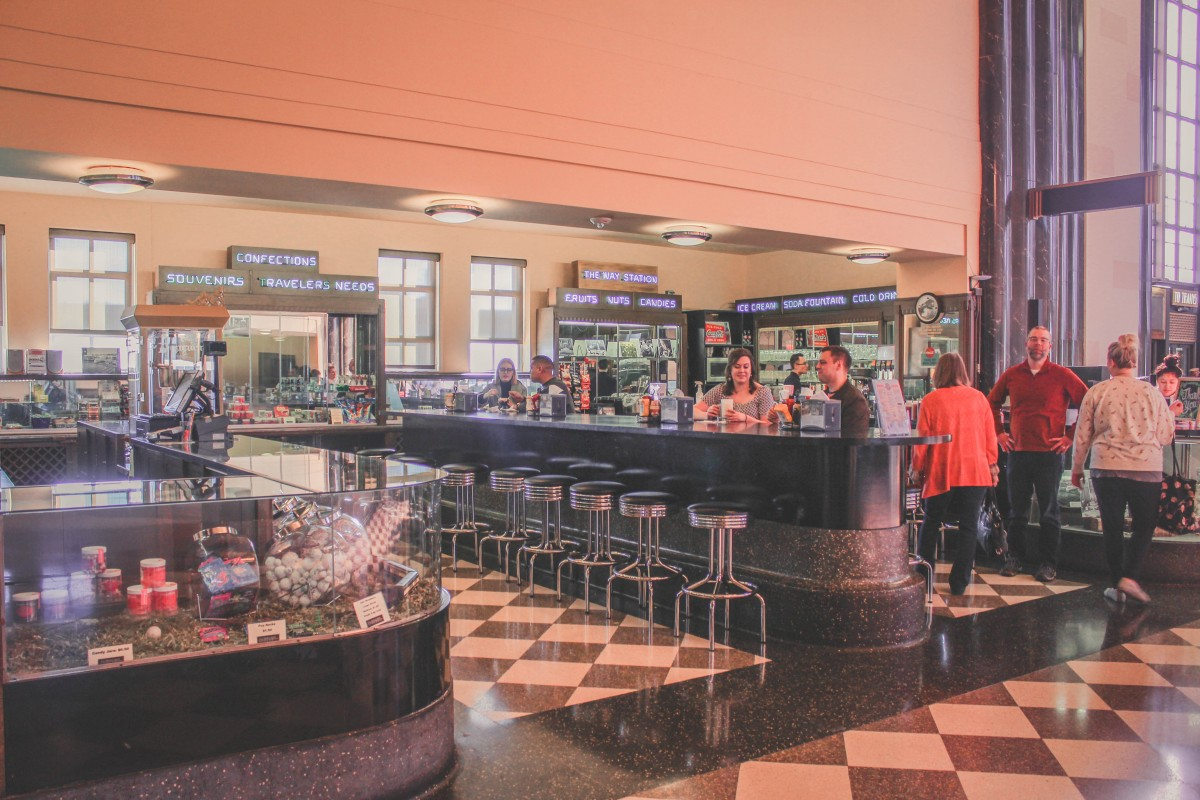 Old town soda fountain at Union Station in Omaha