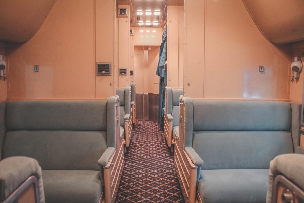 seats inside a train