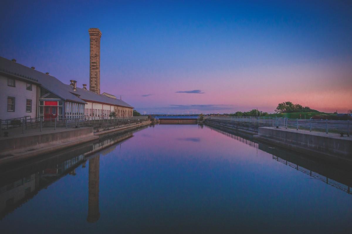 Kingston at sunset